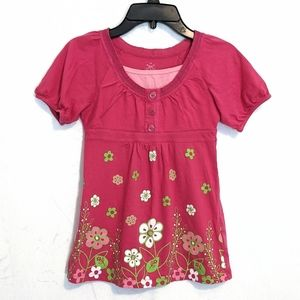 Floral peasant top from SO - pink shirt - size 7/8